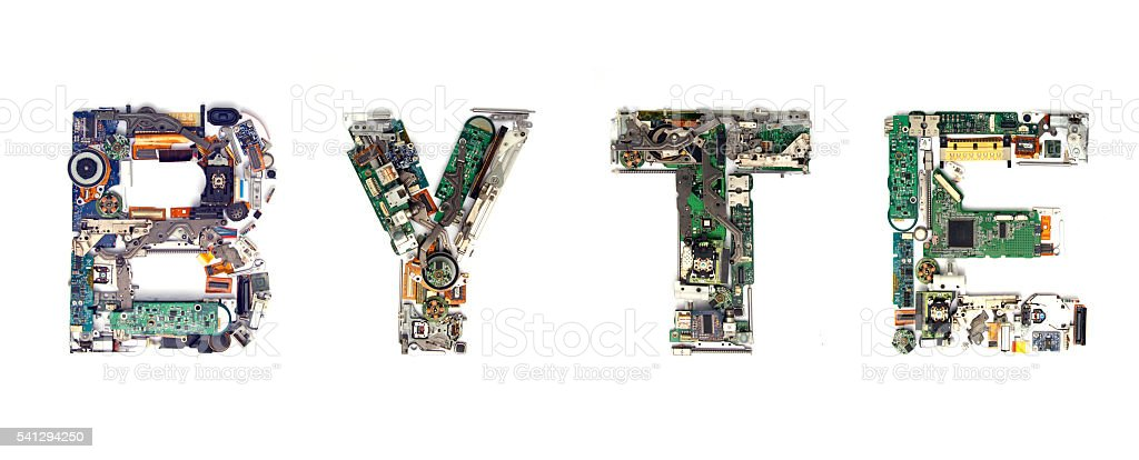 byte electronic stock photo