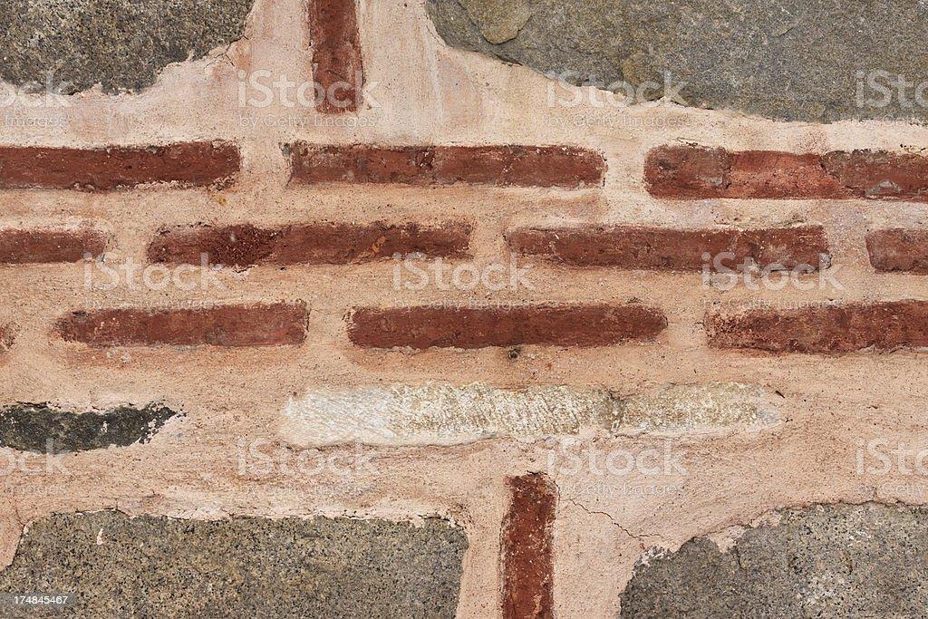 Byzantine brick wall stock photo