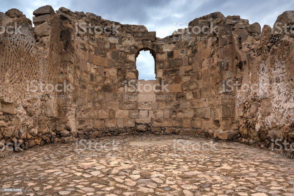Byzantine Church at Masada, Israel stock photo