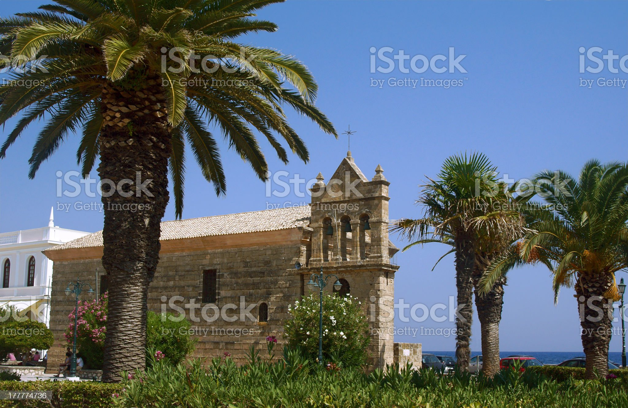 Byzantine church in Zakynthos royalty-free stock photo