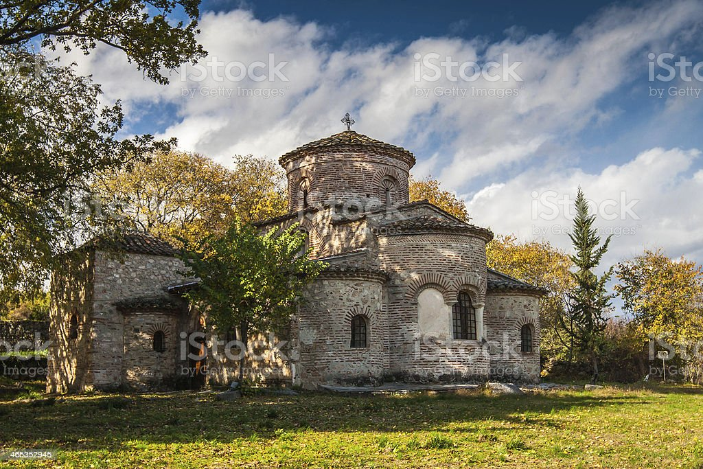 Byzantine church of Madonna royalty-free stock photo