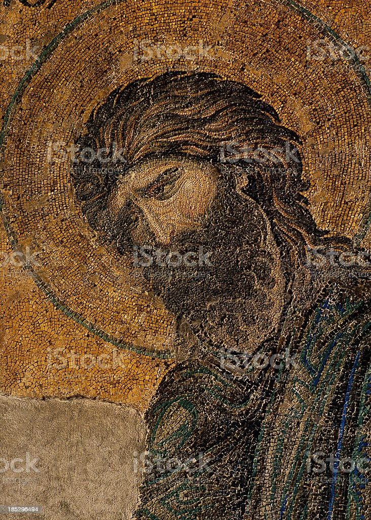Byzantine mosaic of  the Apostle Pavel stock photo