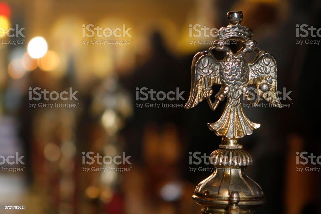 Byzantine orthodox symbol stock photo