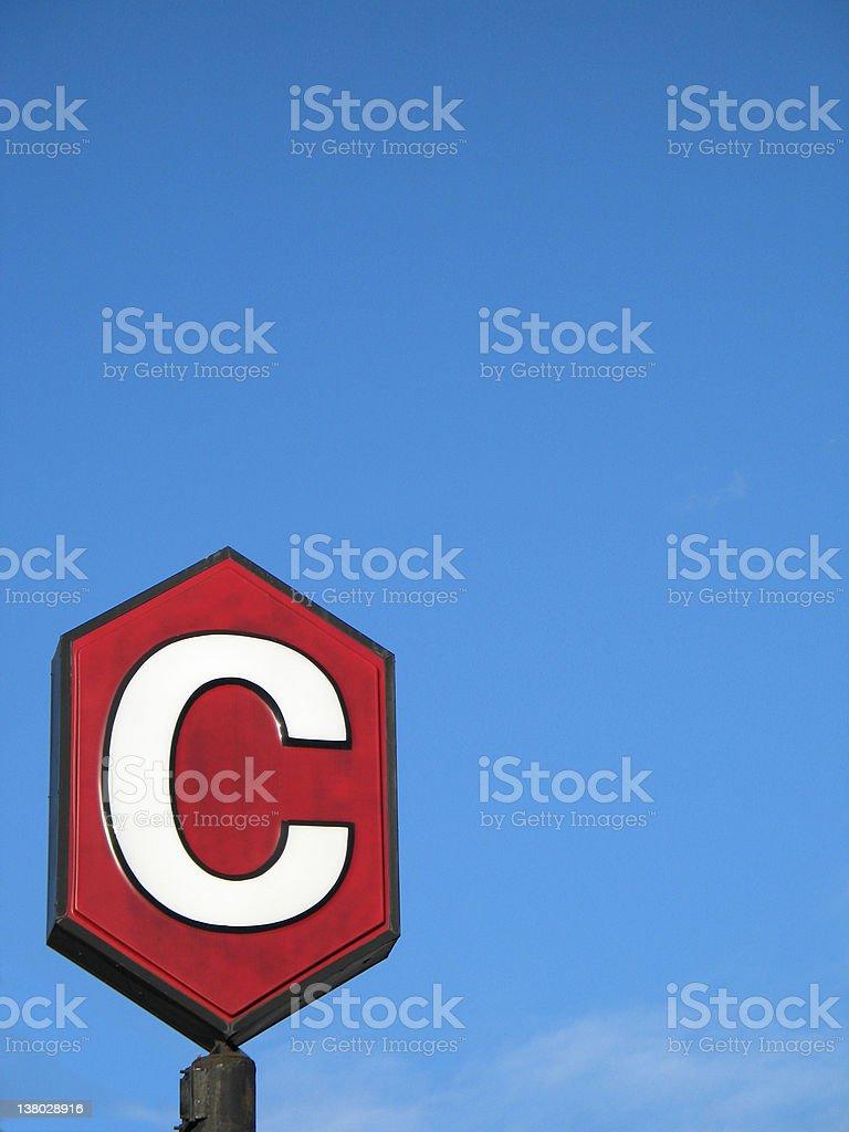 c sign stock photo
