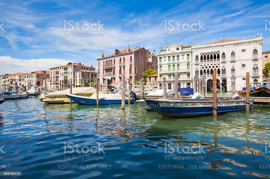 Ca' d'Oro palace and other Palaces on Grand Canal, Venice stock photo