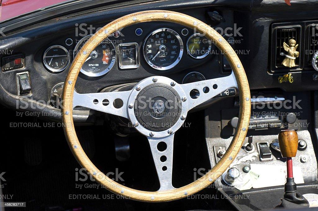 Cab british sports car MG MGC royalty-free stock photo