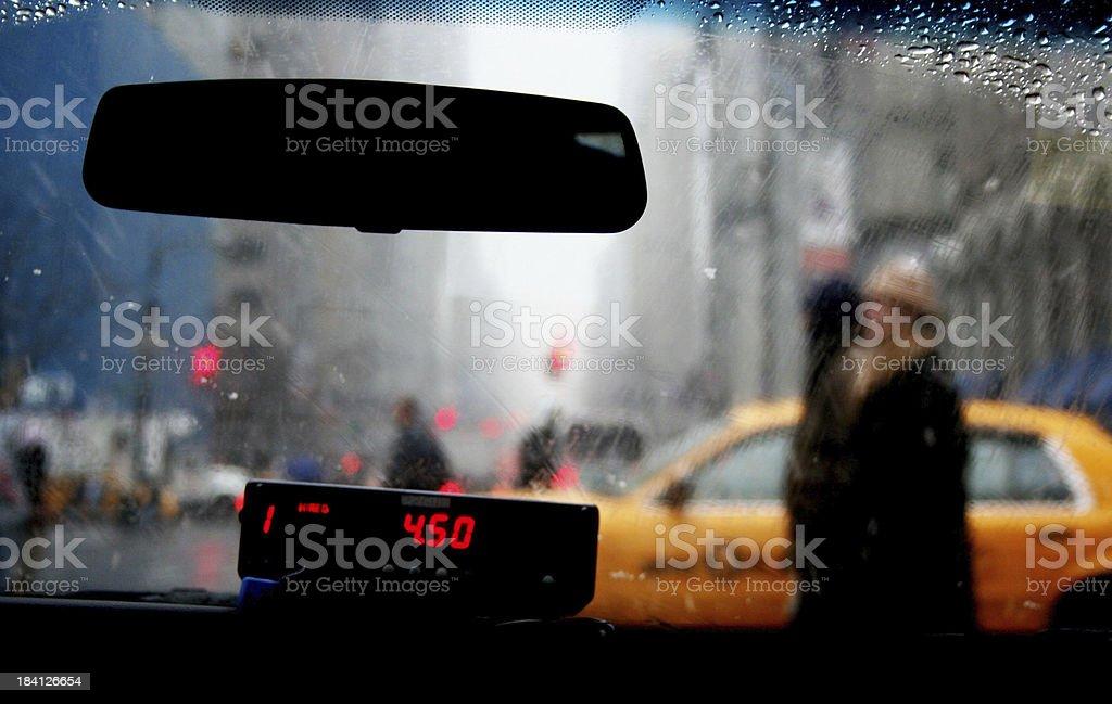 Cab fare stock photo