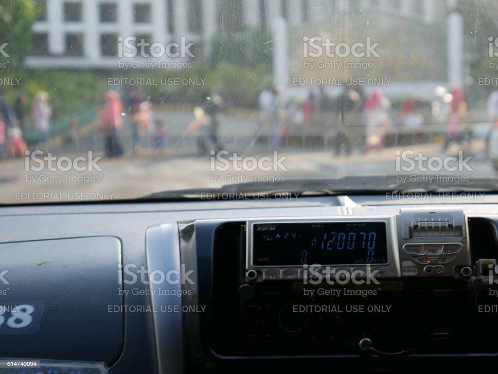 Cab in Jakarta stock photo