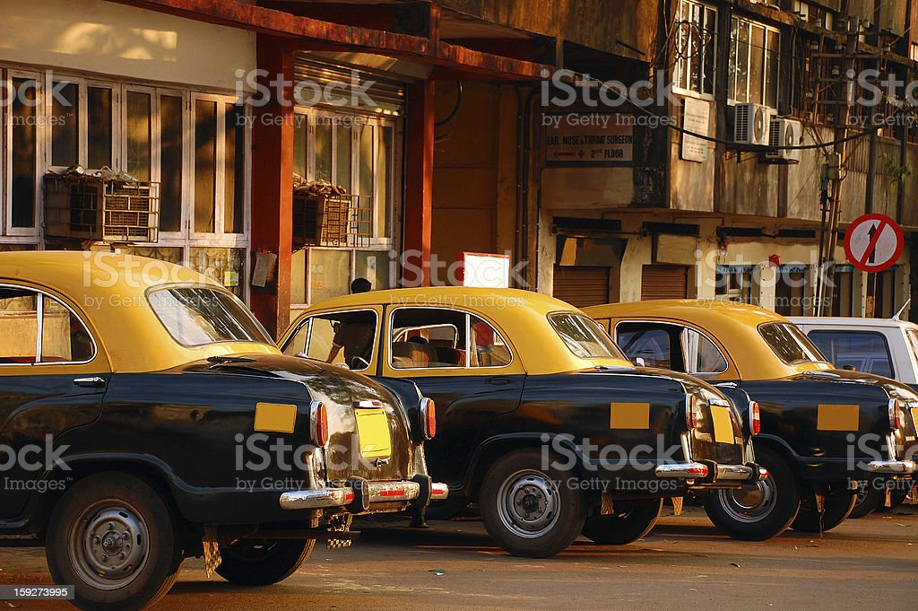 Cab Stand in India royalty-free stock photo