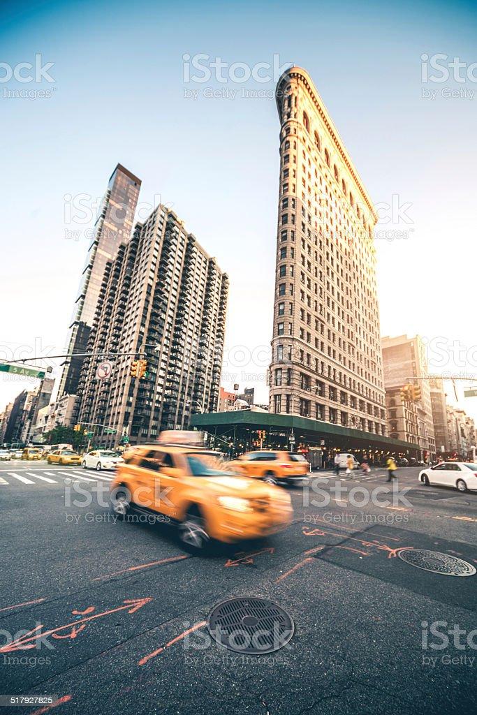 Cab traffic in New York City stock photo