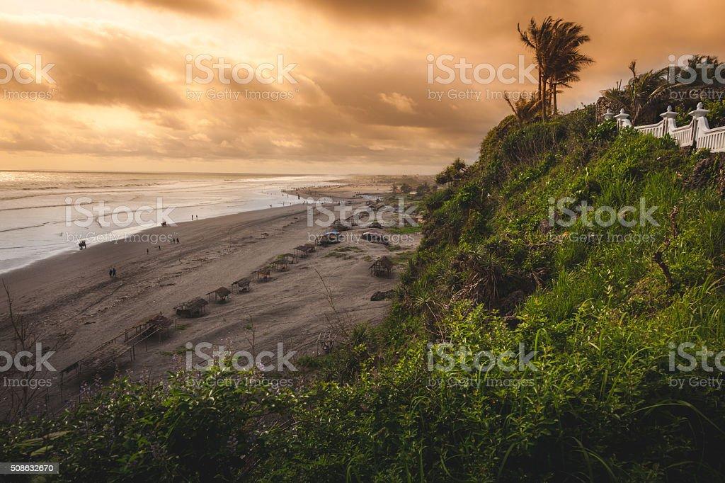 Cabanas Line Pantai Parangtritis royalty-free stock photo