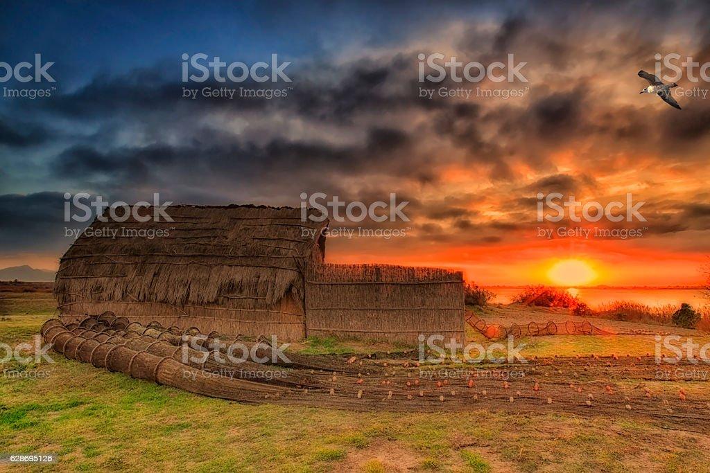 Cabane de pêcheur stock photo