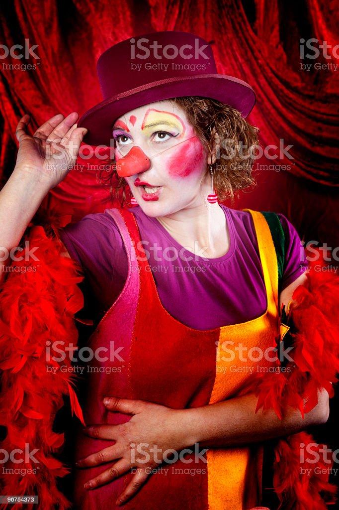 Cabaret clown royalty-free stock photo