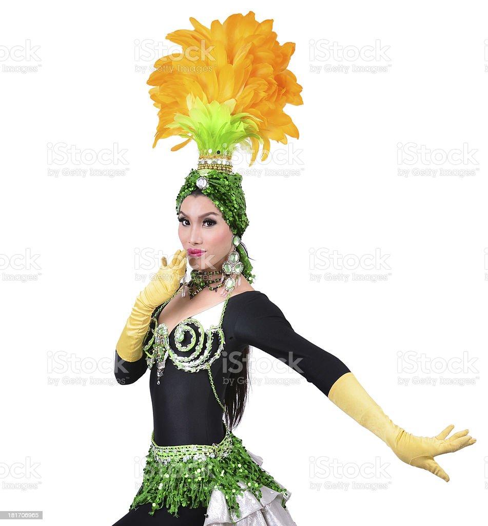 cabaret dancer isolated royalty-free stock photo
