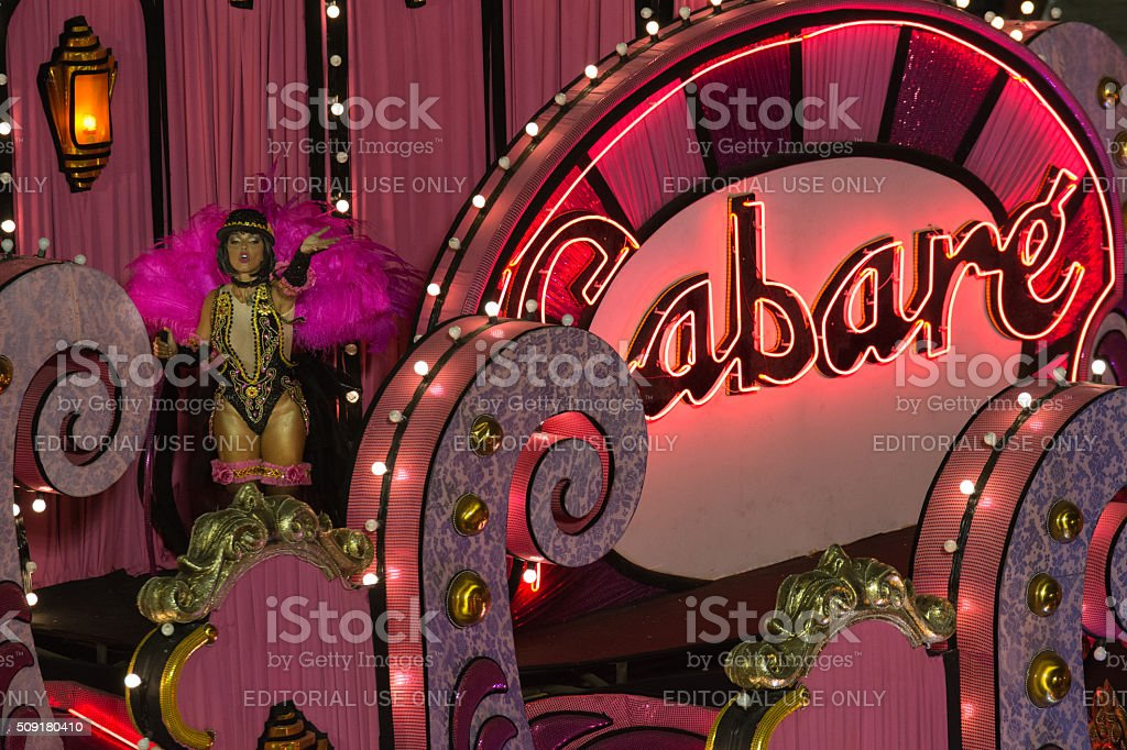 Cabaret lady in pink royalty-free stock photo