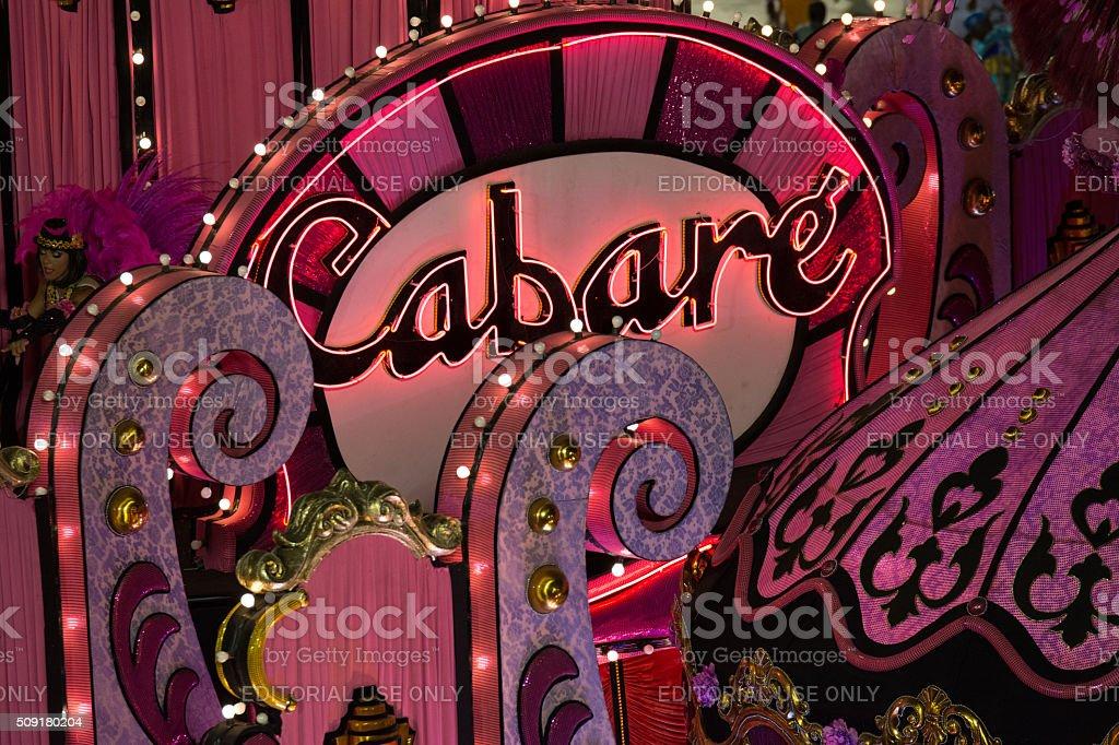 Cabaret pink sign stock photo