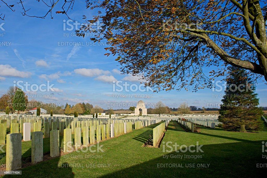 Cabaret Rouge British World War 1 Cemetery, Arras, France stock photo
