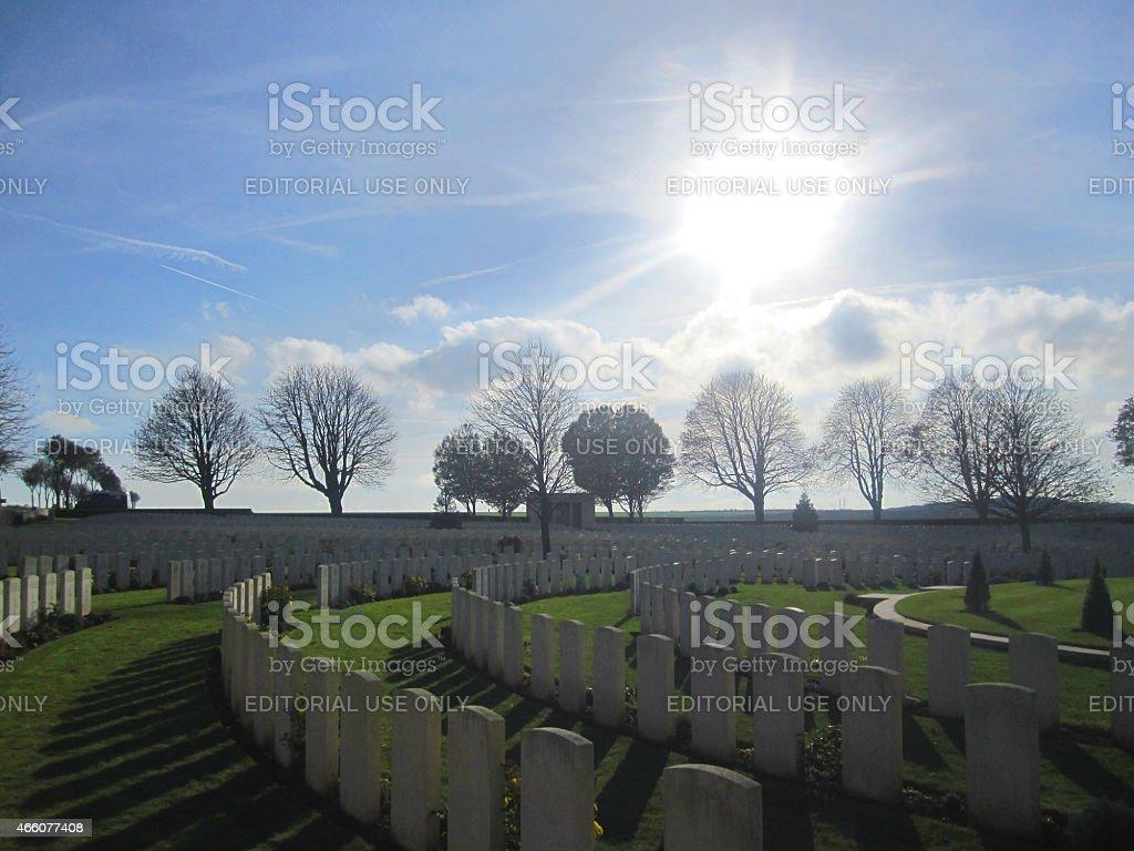 Cabaret Rouge British World War 1 Cemetery, France stock photo