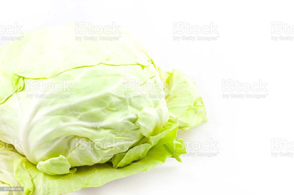 Cabbage from Thai local market. stock photo