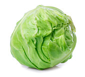 cabbage isolated on white background closeup