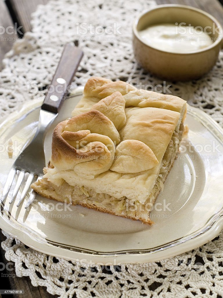 cabbage pie royalty-free stock photo