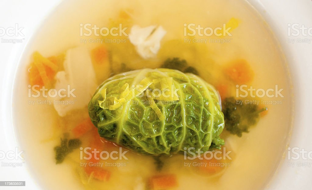 Cabbage soup stock photo