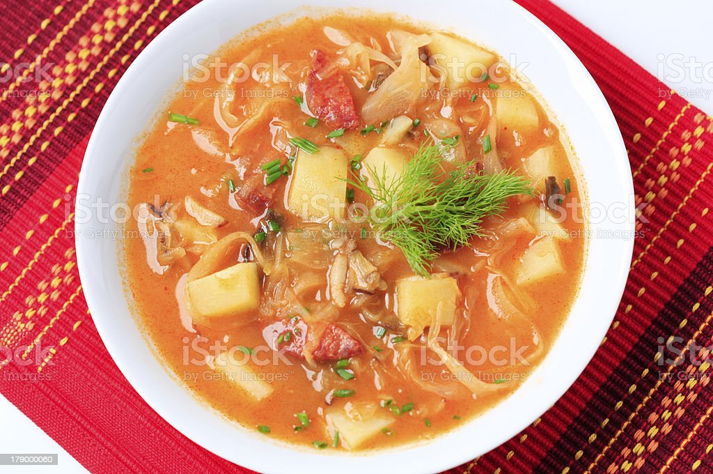 Cabbage soup royalty-free stock photo