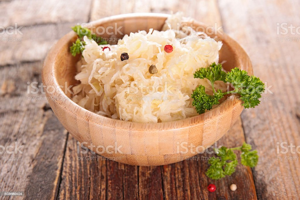 cabbage,sauerkraut stock photo