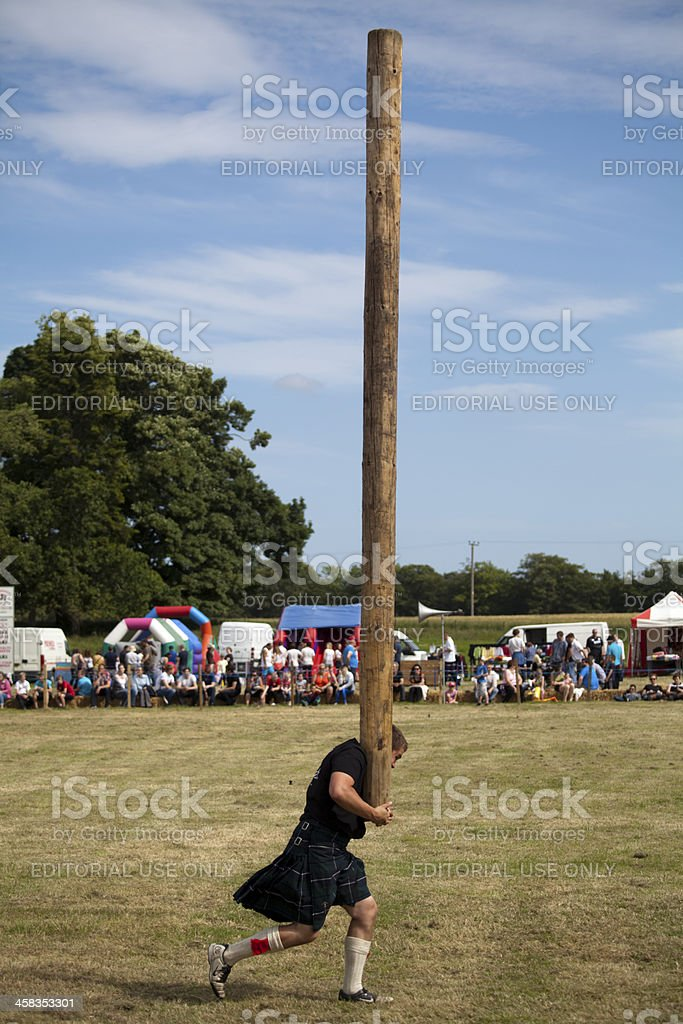 Caber Toss royalty-free stock photo