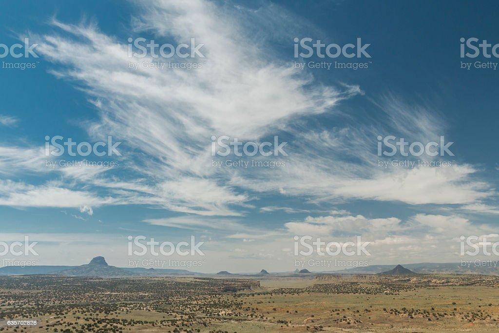 Cabezon Peak from the Empedrado Wilderness Study Area, New Mexic stock photo
