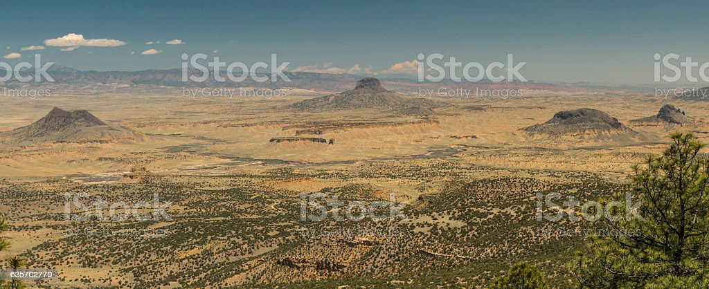 Cabezon Peak from the San Ignacio Wilderness Study Area. stock photo