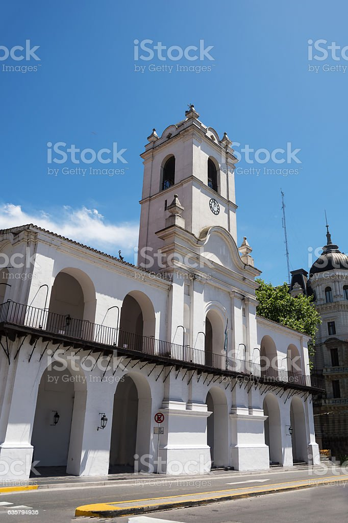 Cabildo of Buenos Aires in a sunday with  tourist stock photo