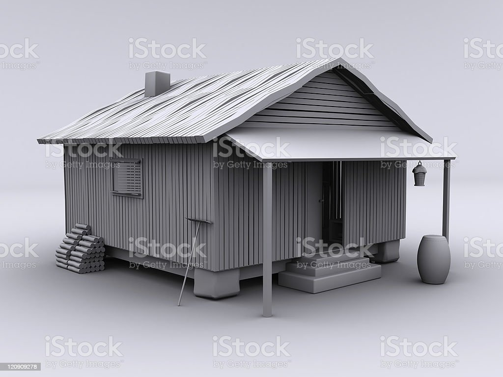 Cabin cozy III stock photo
