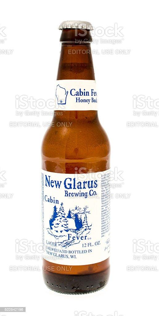 Cabin Fever Beer stock photo