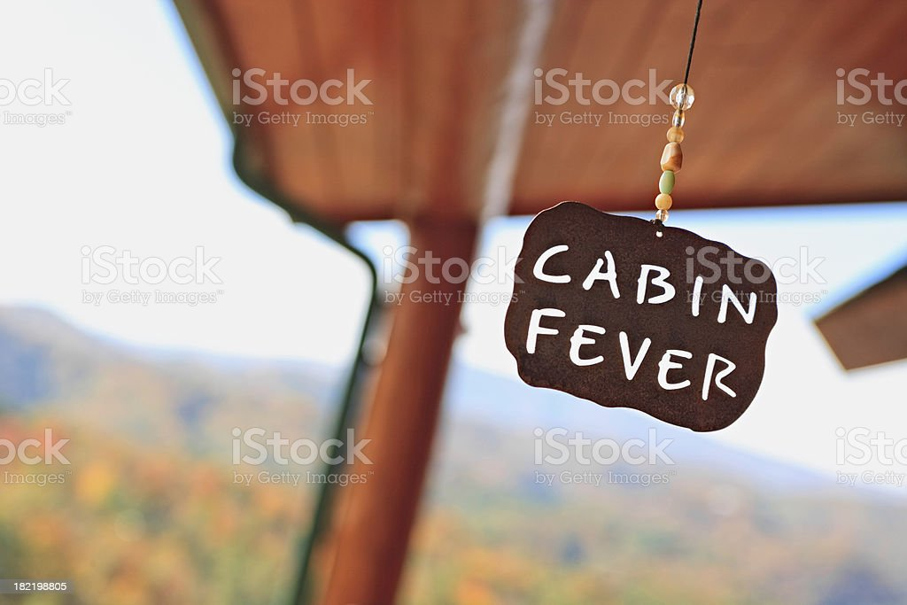 Cabin Fever! royalty-free stock photo