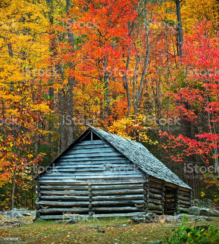 Cabin, Great Smoky Mountains, Gatlinburg, Tennessee, USA royalty-free stock photo