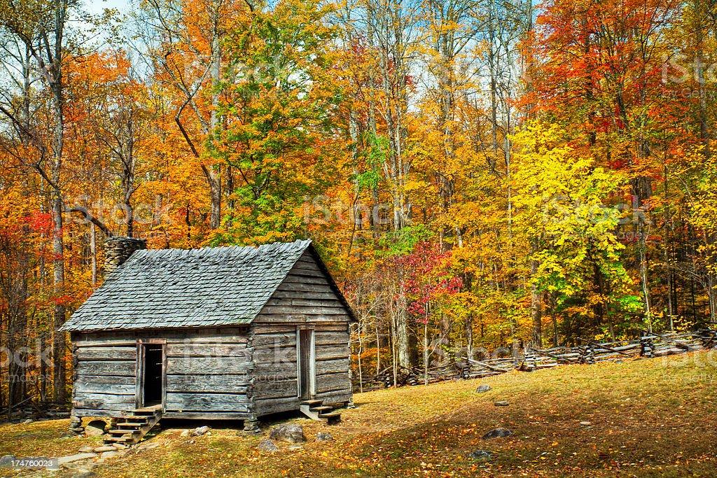 Cabin, Great Smoky Mountains, Gatlinburg, Tennessee, USA stock photo