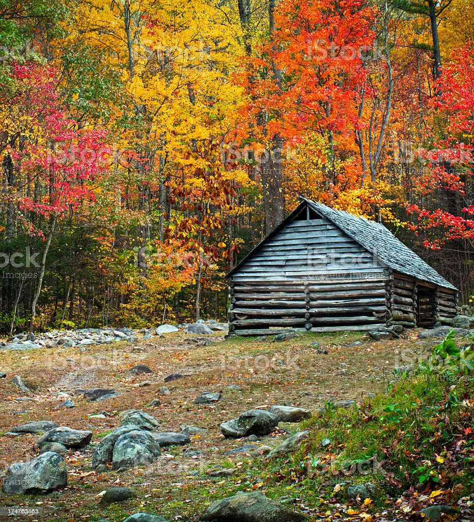 Cabin, Great Smoky Mountains, Gatlinburg, Tennessee, USA royalty-free stock photo