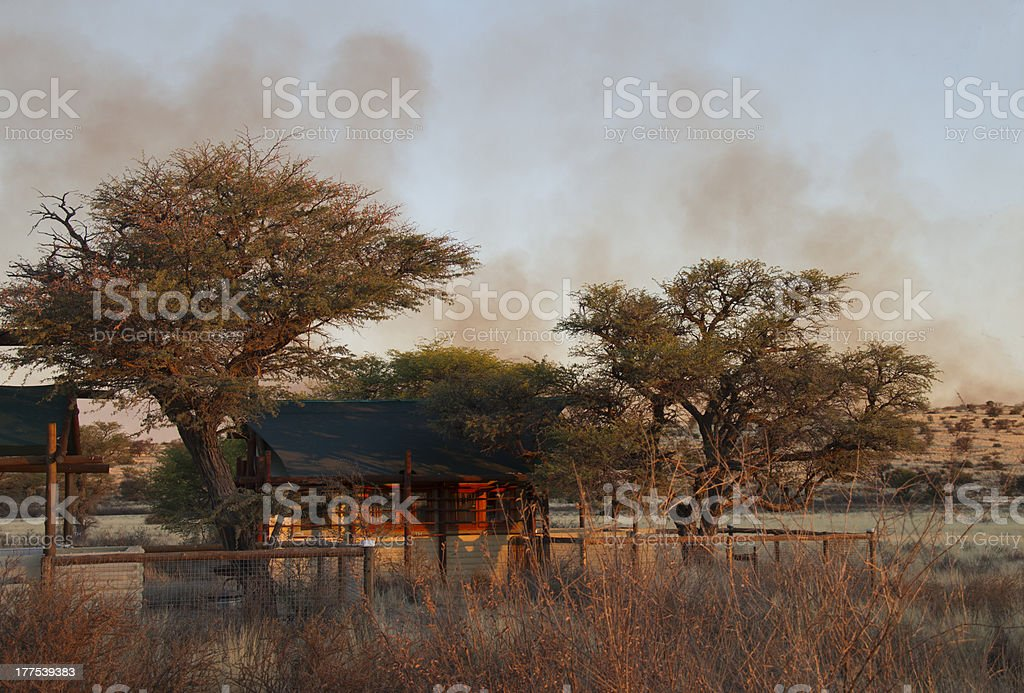 Cabin in the countryside royalty-free stock photo