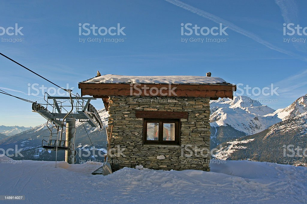 cabin in the French Alps royalty-free stock photo