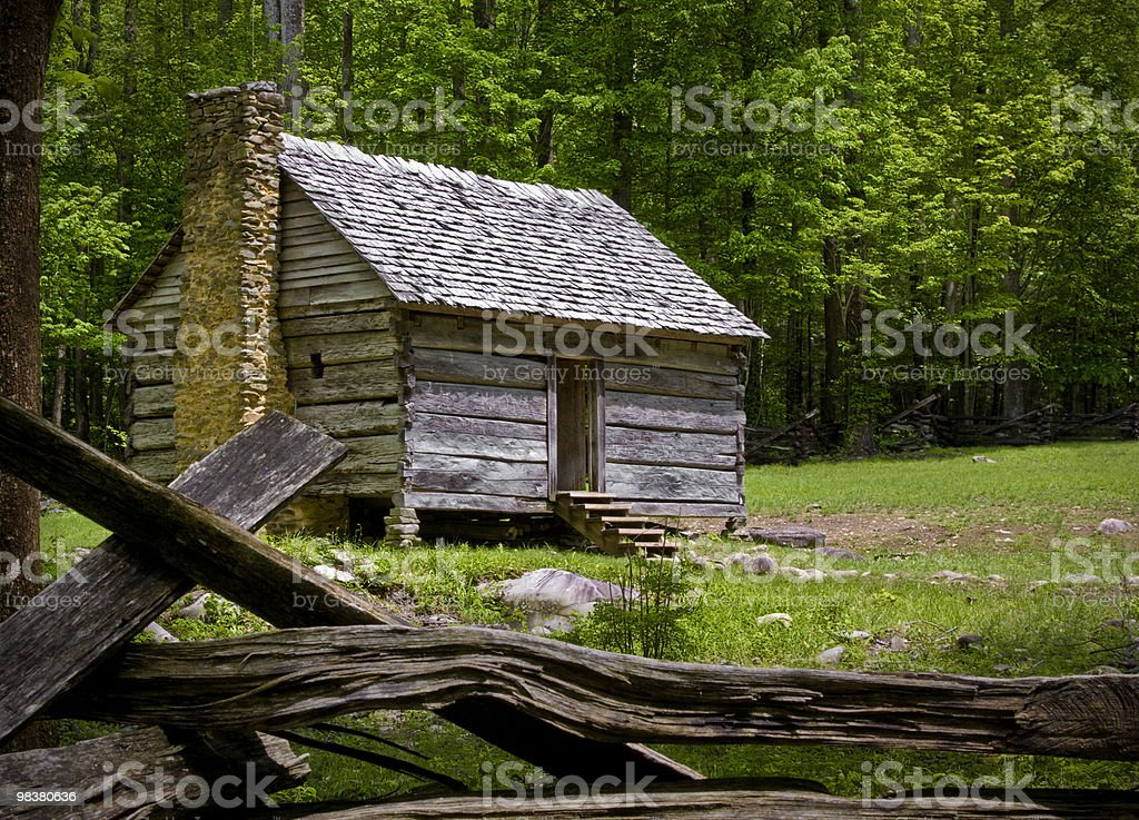 Cabin in the Smokies royalty-free stock photo