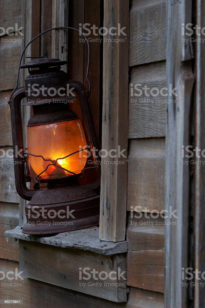 Cabin & Lantern royalty-free stock photo