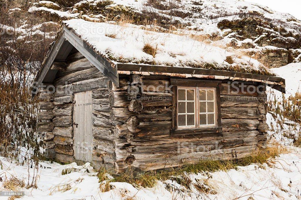 Cabin Norway stock photo