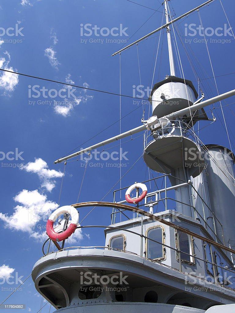 Cabin of ship stock photo