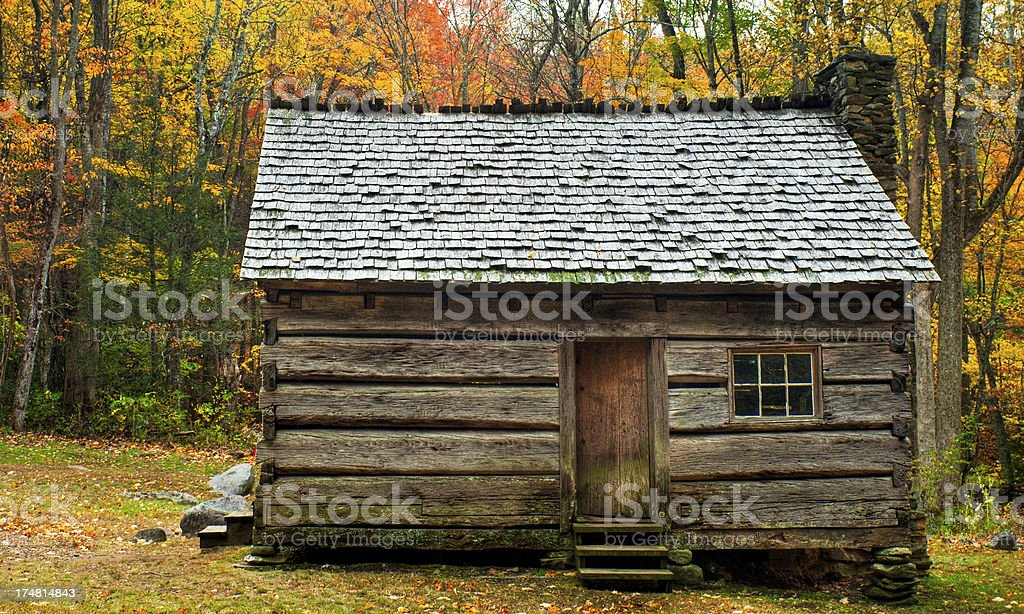 Cabin, Roaring Fork, Great Smoky Mountains, Gatlinburg, Tennessee, USA royalty-free stock photo