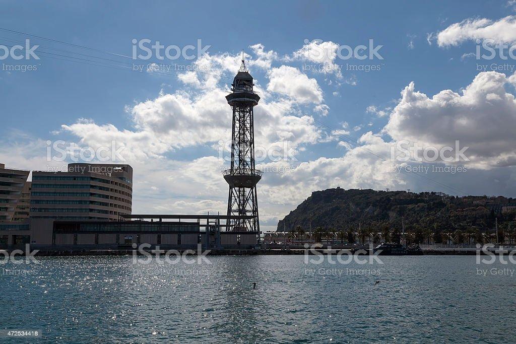 Cabin tower from Rambla del mar royalty-free stock photo
