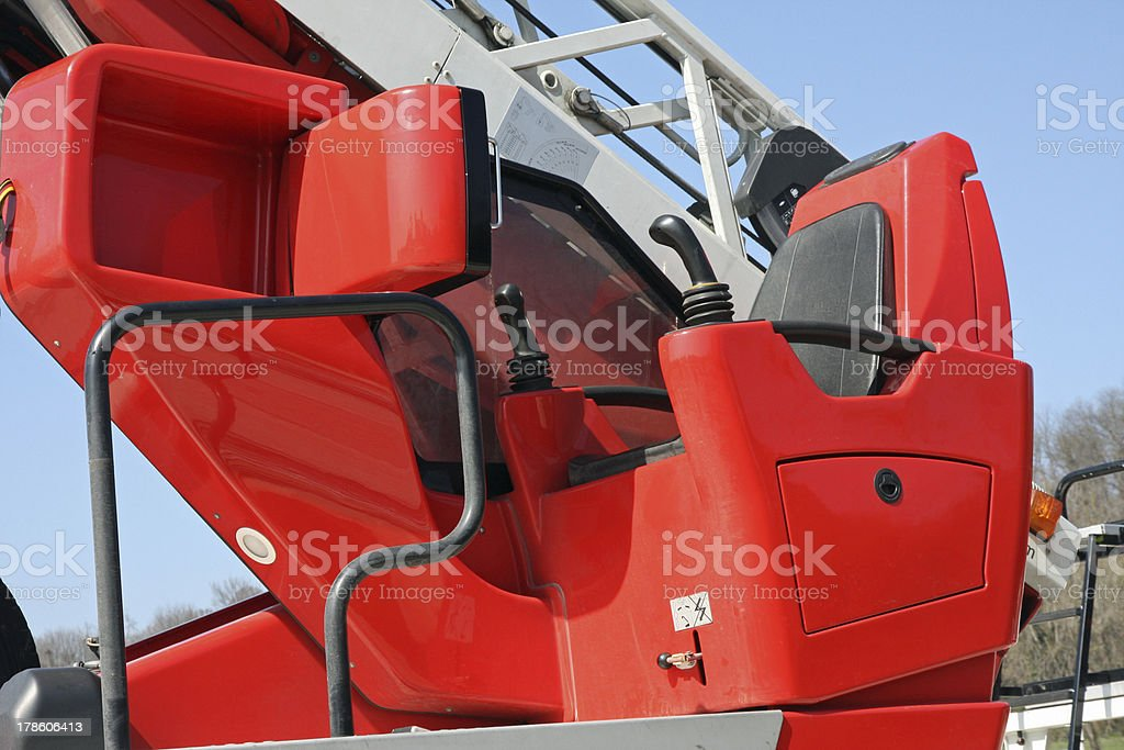 cabin with a command console fire trucks royalty-free stock photo