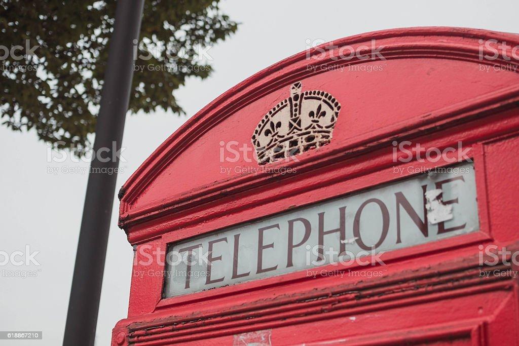 cabina telefonica di Londra stock photo