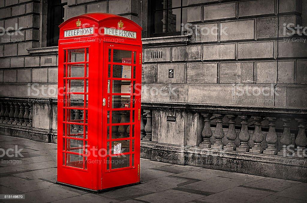 Cabine de téléphone stock photo