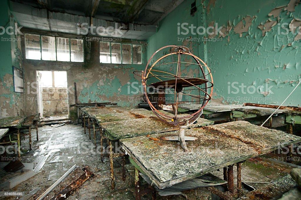 kabinett Astronomie in der Schule Stadt Pripyat Lizenzfreies stock-foto